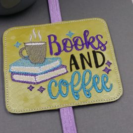 Books and Coffee Book Band – Embroidery Design, Digital File