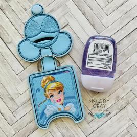Glass Slipper Princess Applique Fold Over Sanitizer Holder 5×7- DIGITAL Embroidery DESIGN