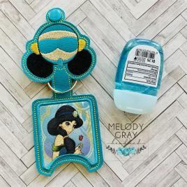 Magic Carpet Princess Applique Fold Over Sanitizer Holder 5×7- DIGITAL Embroidery DESIGN