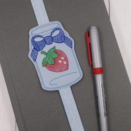 Strawberry Jar Book Band – Embroidery Design, Digital File