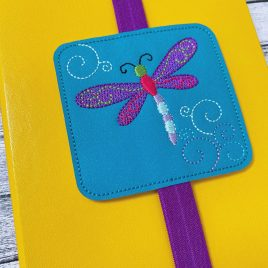 Dragonfly Book Band – Embroidery Design, Digital File