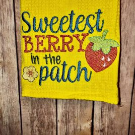 Sweetest Berry in the Patch – 4 sizes- Digital Embroidery Design
