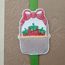 Strawberry Basket Book Band – Embroidery Design, Digital File