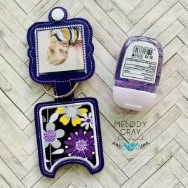Slip in Photo Applique Fold Over Sanitizer Holder 5×7- DIGITAL Embroidery DESIGN