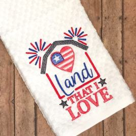 Land that I Love – 3 sizes- Digital Embroidery Design