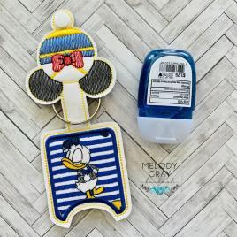 Boy Duck Applique Fold Over Sanitizer Holder 5×7- DIGITAL Embroidery DESIGN