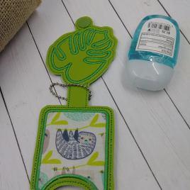 Monstera Leaf Applique Fold Over Sanitizer Holder 5×7- DIGITAL Embroidery DESIGN