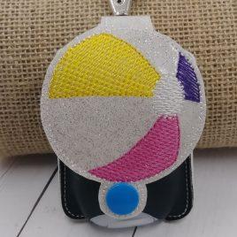 Beach Ball Applique Fold Over Sanitizer Holder 5×7- DIGITAL Embroidery DESIGN