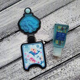 Seashell Applique Fold Over Sanitizer Holder 5×7- DIGITAL Embroidery DESIGN