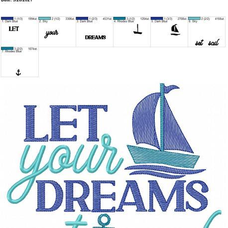 Dreams Set Sail 8×12