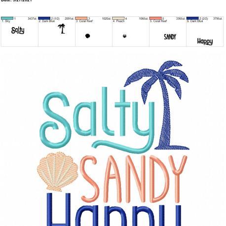 Salty Sandy Happy 6×10