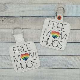 Free Mom Hugs Fobs – DIGITAL Embroidery DESIGN