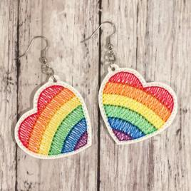 Pride Earrings – 1 Size – Digital Embroidery Design