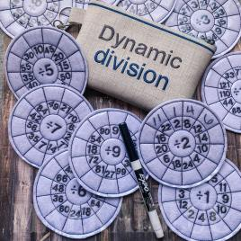 Dynamic Division Set with zipper bag – Digital Embroidery Design