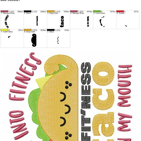 Fitness Tacos 8×12