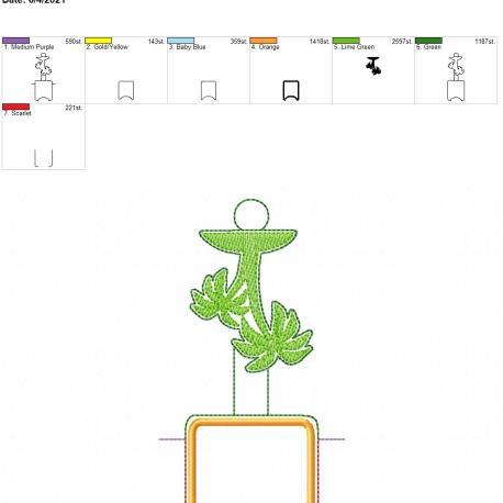 Palm Tree Sketch AFOSH 5×7