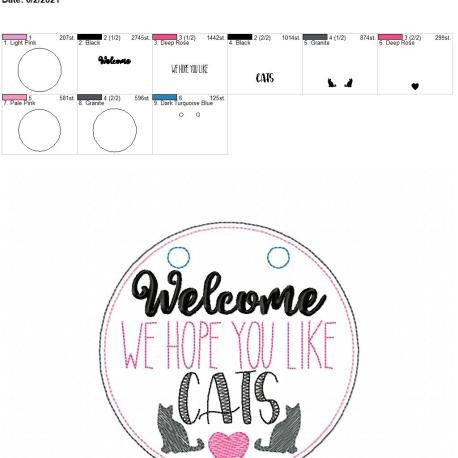 Welcome We Hope you like cats door sign 5×7