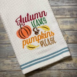 Autumn Leaves – 4 sizes- Digital Embroidery Design