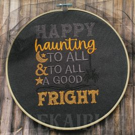 Happy Haunting – 3 sizes- Digital Embroidery Design