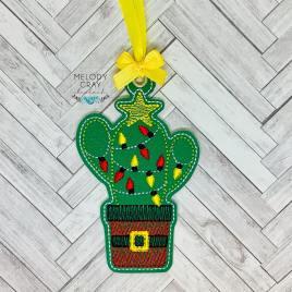 Santa Pot Cactus Ornament – Digital Embroidery Design