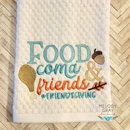 Food Coma and Friends – 3 sizes- Digital Embroidery Design