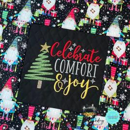 Celebrate Comfort and Joy – 3 sizes- Digital Embroidery Design