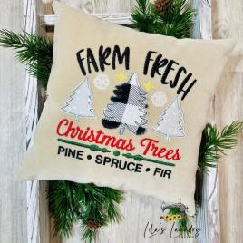 Farm Fresh Christmas Trees – 3 sizes- Digital Embroidery Design