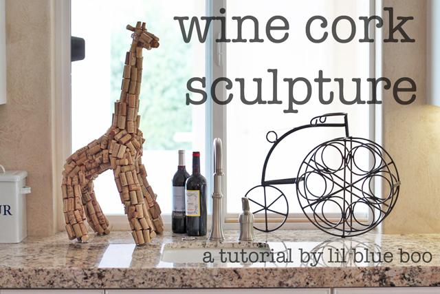 wine cork sculpture