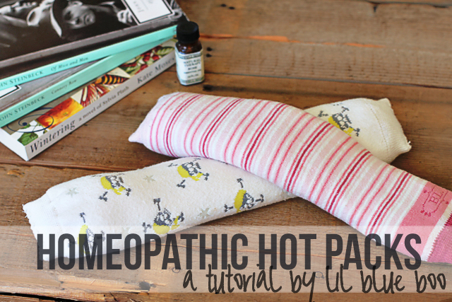 DIY Homeopathic Aromatherapy Hot Packs with Rice