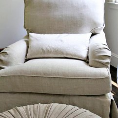 White Slipcover Chair And Ottoman Covers For Easter Neutral Nursery Decor Ideas - Restoration Hardware Inspired