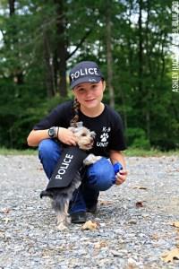 DIY Police Costume and K-9 Dog Halloween Costume