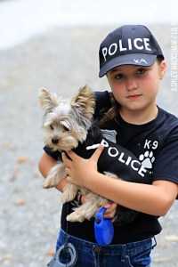 DIY Police Costume and K-9 Dog Halloween Costume