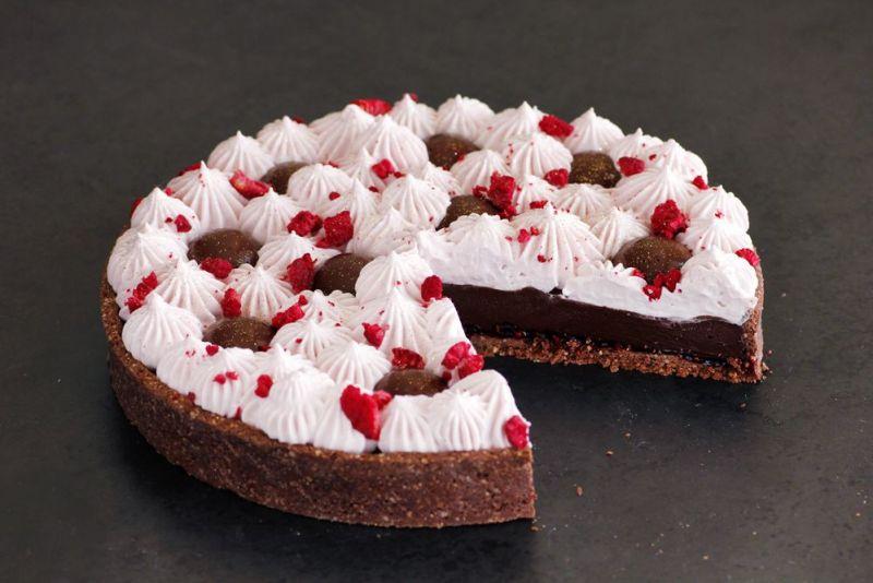 Gluten Free Raspberry Chocolate Tart