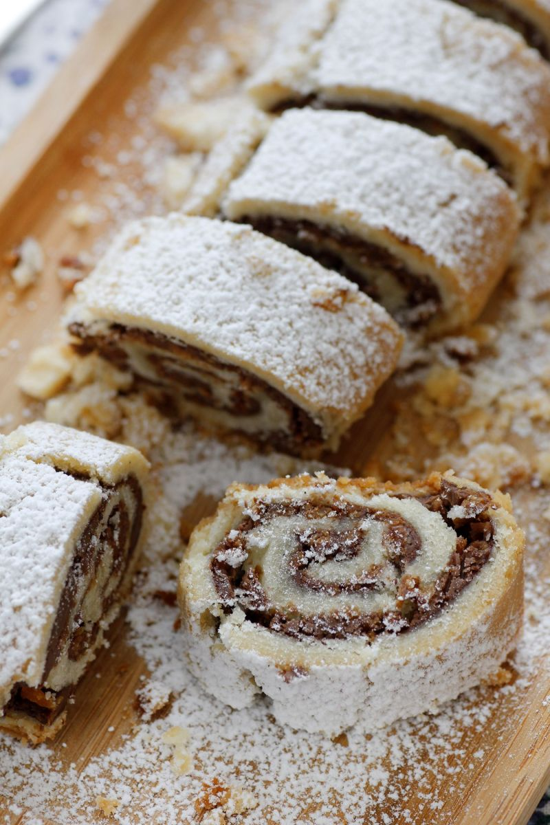 Chocolate Coconut Cookie Roll