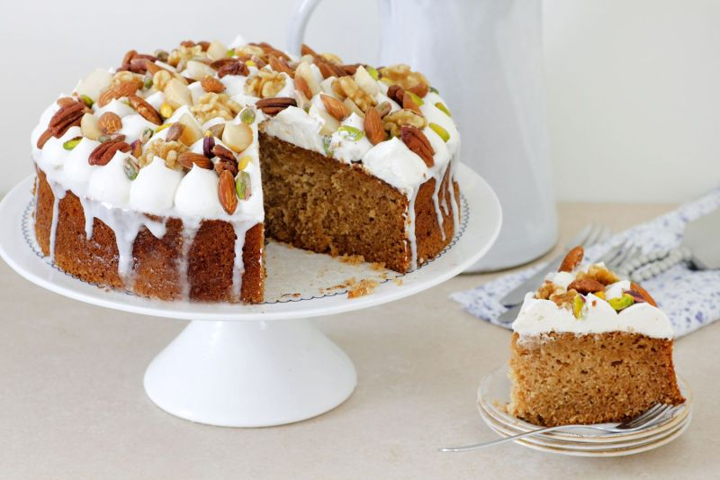 Earl Gray Honey Cake with Nuts