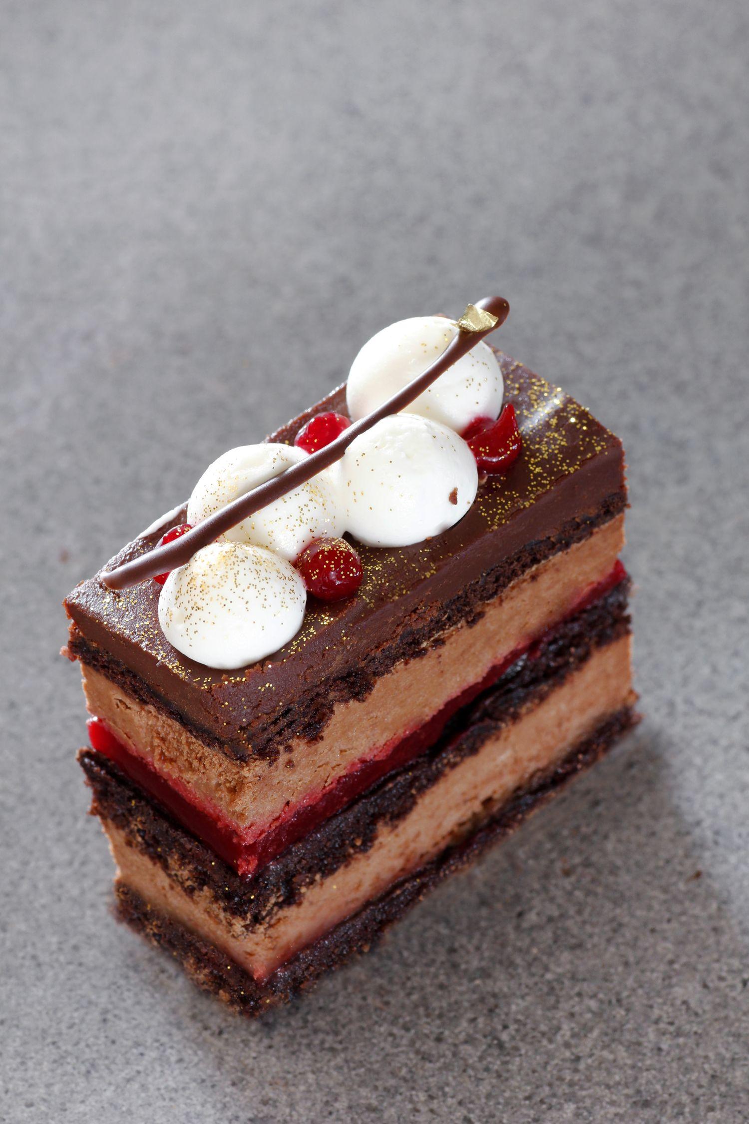 Chocolate Raspberry Entremet Lil Cookie