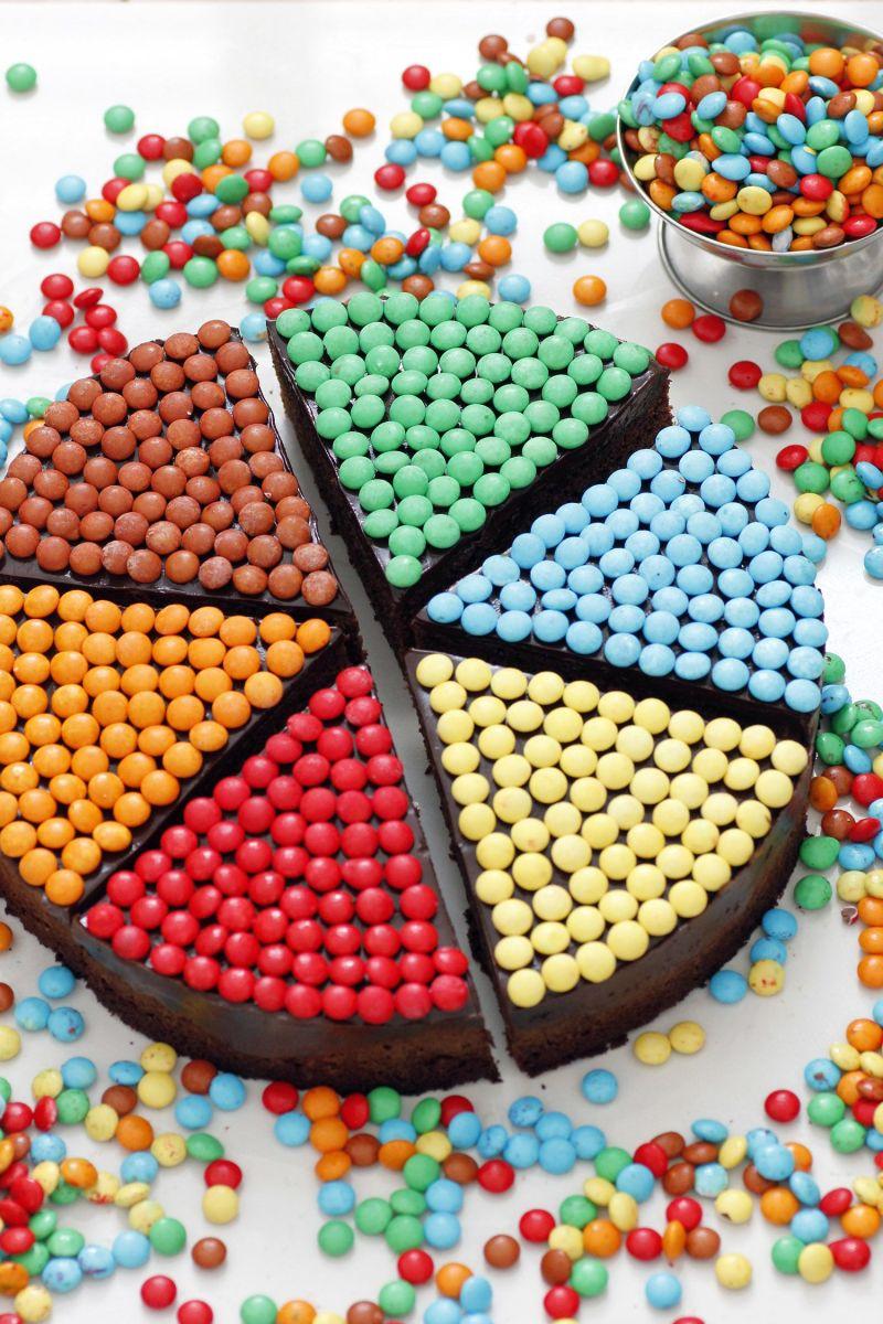 Colorful Birthday Chocolate Cake