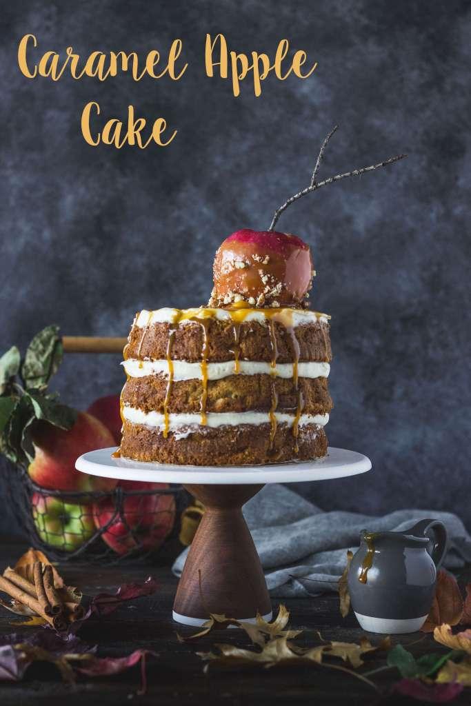 Caramel Apple cake   lilcupcakemonkey.com