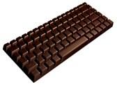 Clavier en chocolat