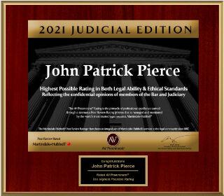 John Pierce - Award - 2021 Judicial Edition- Lilesparker
