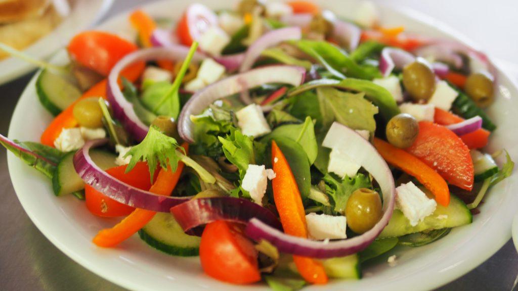 asiette de salade composée