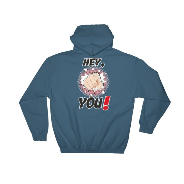 "Handwritings ""Hey, you !"" - Sweat à capuche Homme et Femme (Unisexe)"