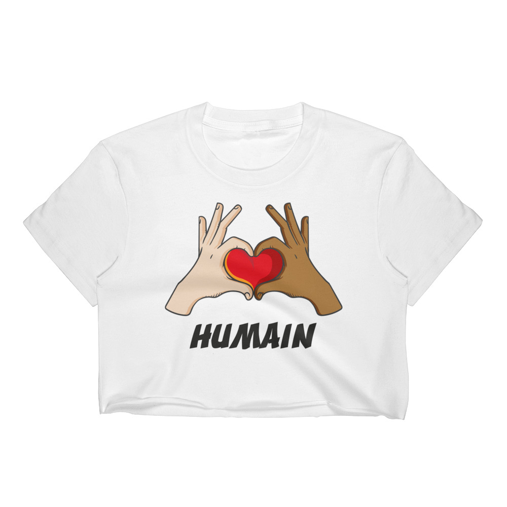 "Handwritings ""Humain"" – Crop-top Femme"