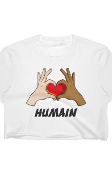 "Handwritings ""Humain"" - Crop-top Femme"