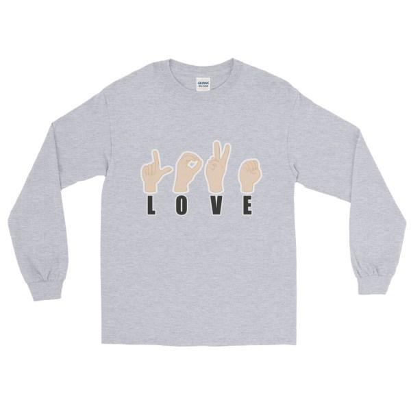 "Handwritings ""Love"" - T-shirt manches longues Homme et Femme (Unisexe)"