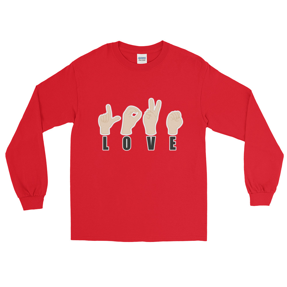 "Handwritings ""Love"" – T-shirt manches longues Homme et Femme (Unisexe)"