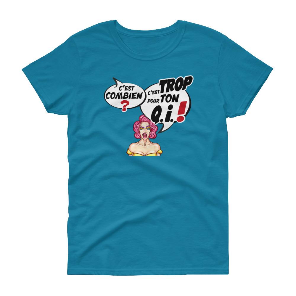 """Punchliness """"C'est combien ?"""" – T-shirt Femme manches courtes"""