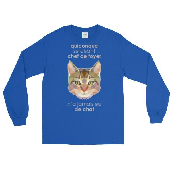 """Zoo """"Chat"""" - T-shirt manches longues Homme et Femme (Unisexe)"""