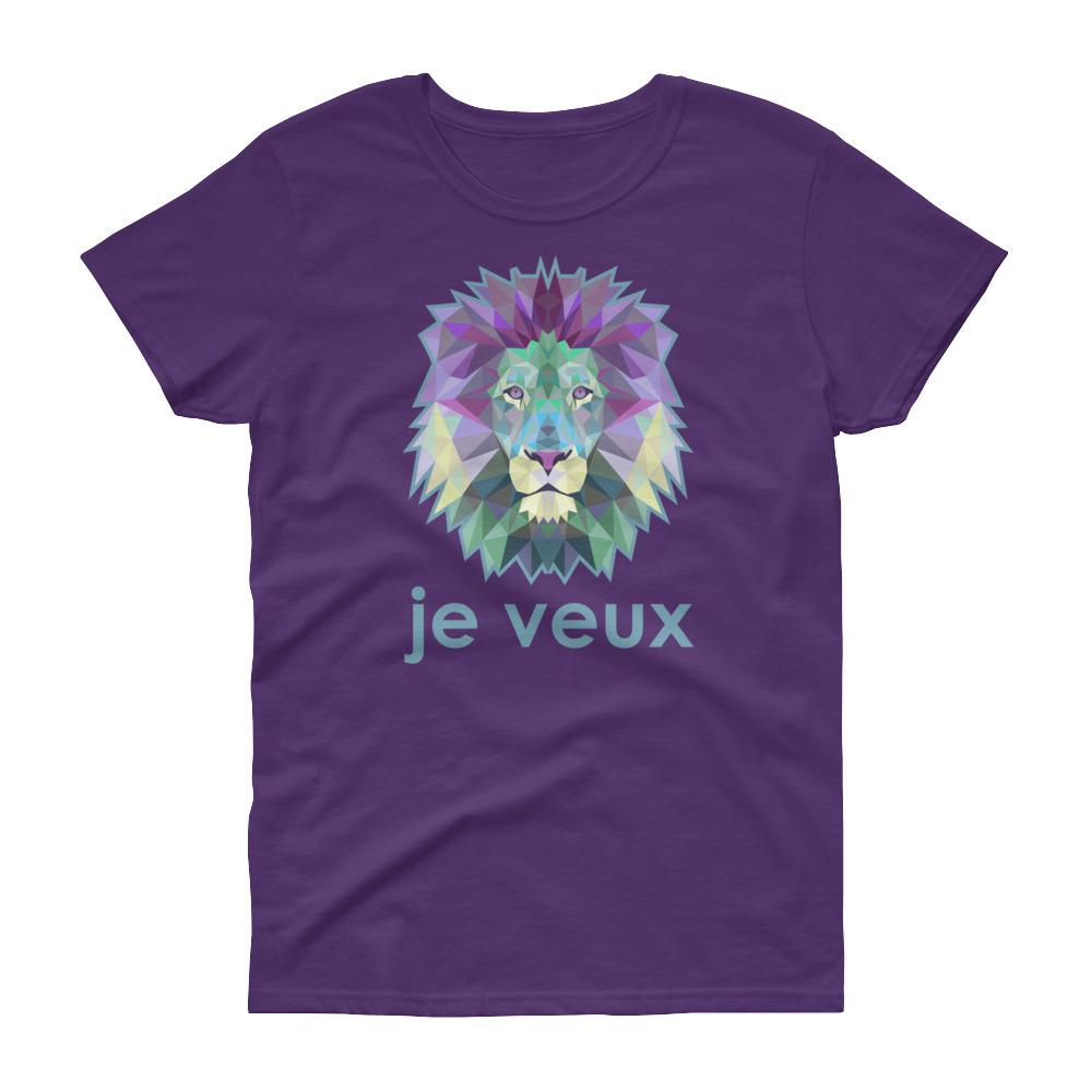 """Zoo """"Lion"""" – T-shirt femme manches courtes"""