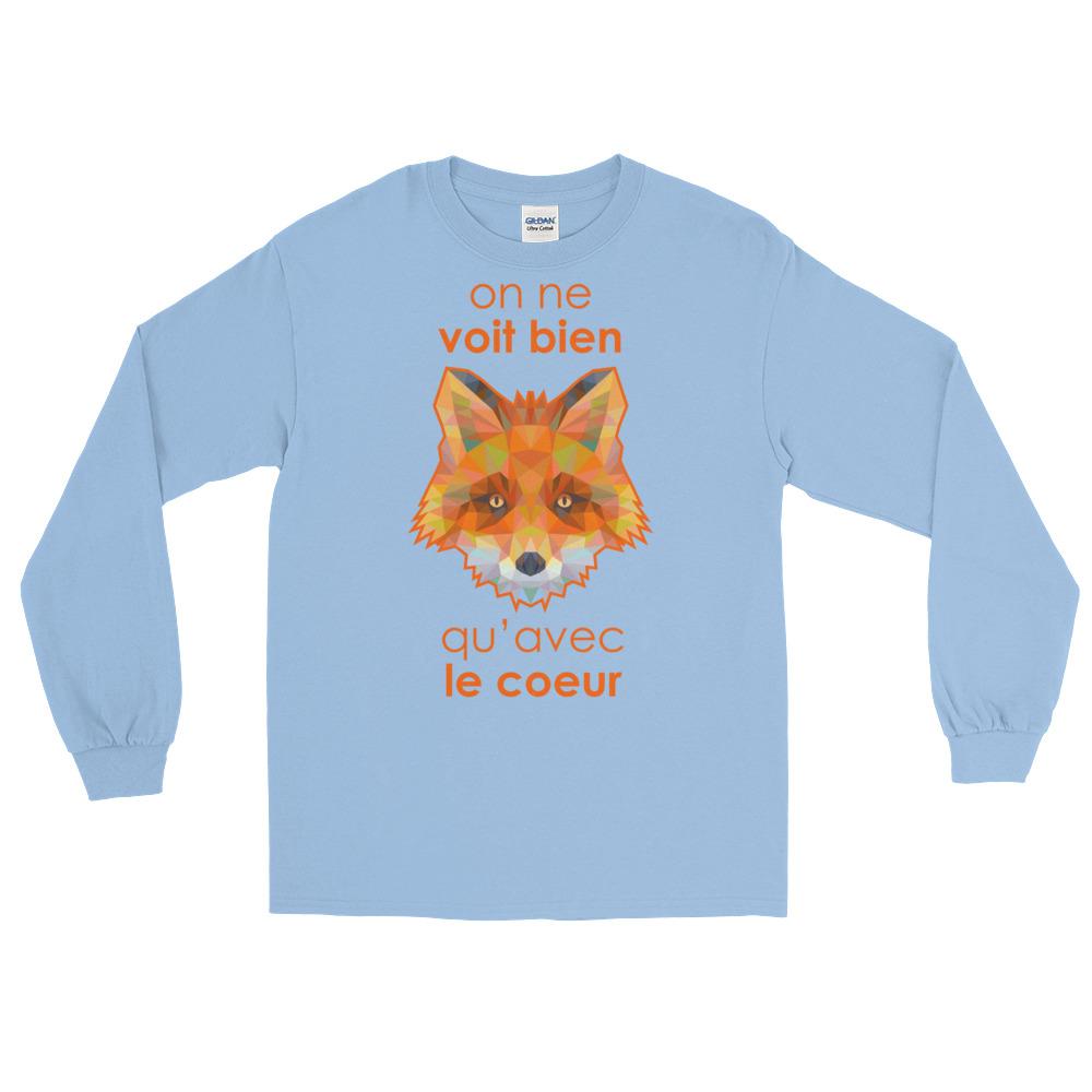 """Zoo """"Renard"""" – T-shirt manches longues Homme et Femme (Unisexe)"""